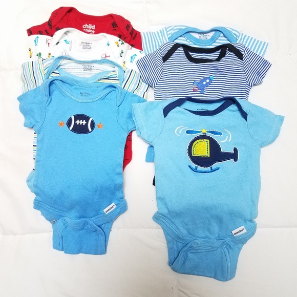 6bbb9a98a Carter's One Pieces | Nb Newborn Baby Onesies Bundle Carters Gerber ...